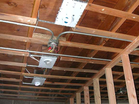 Foyer Ceiling Joist : The library house project november