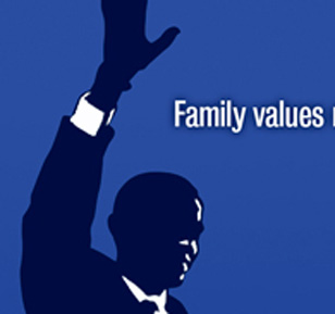 Family Values Obama poster